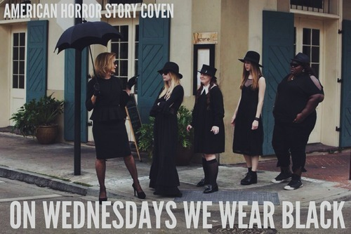 wednesdays wear black
