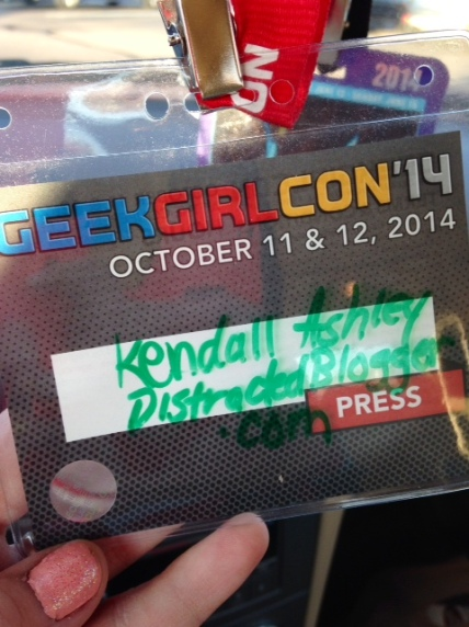 Fancy badge! This means I'm officially a member of the press, right?