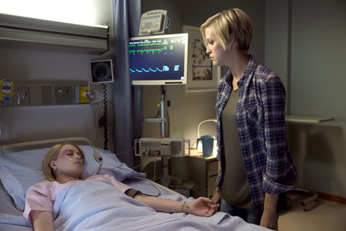 """Supernatural -- """"Paper Moon"""" -- Image SN1004b_0245 -- Pictured (L-R): Emily Tennant as Tasha and Britni Sheridan as Kate -- Credit: Katie Yu/The CW -- © 2014 The CW Network, LLC. All Rights Reserved"""