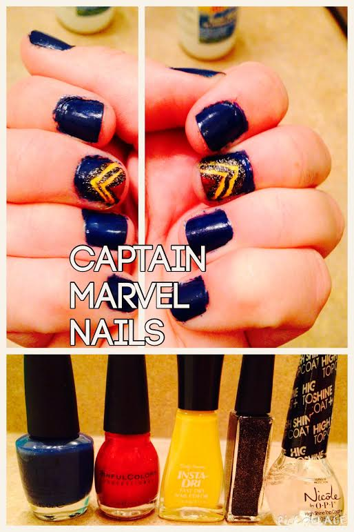 captain marvel nails