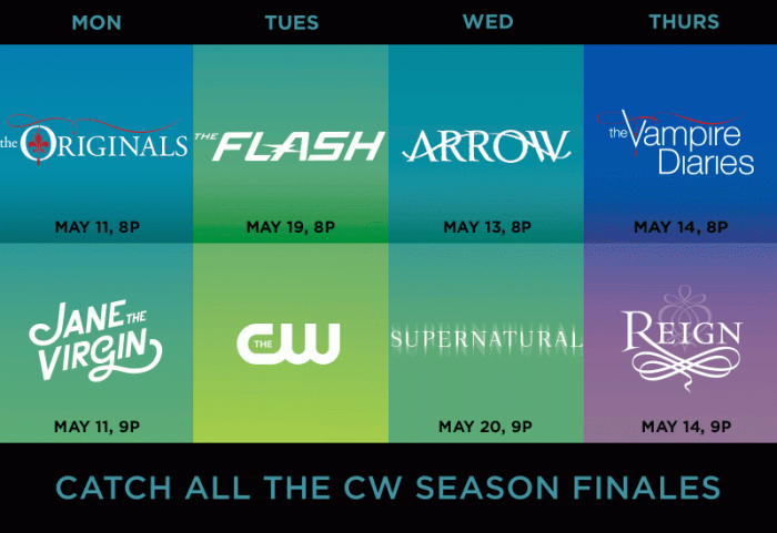 cw may season finales