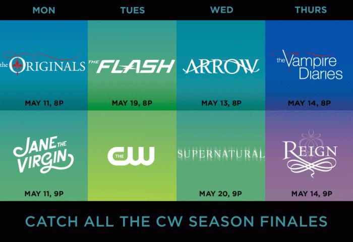 cw may season finales